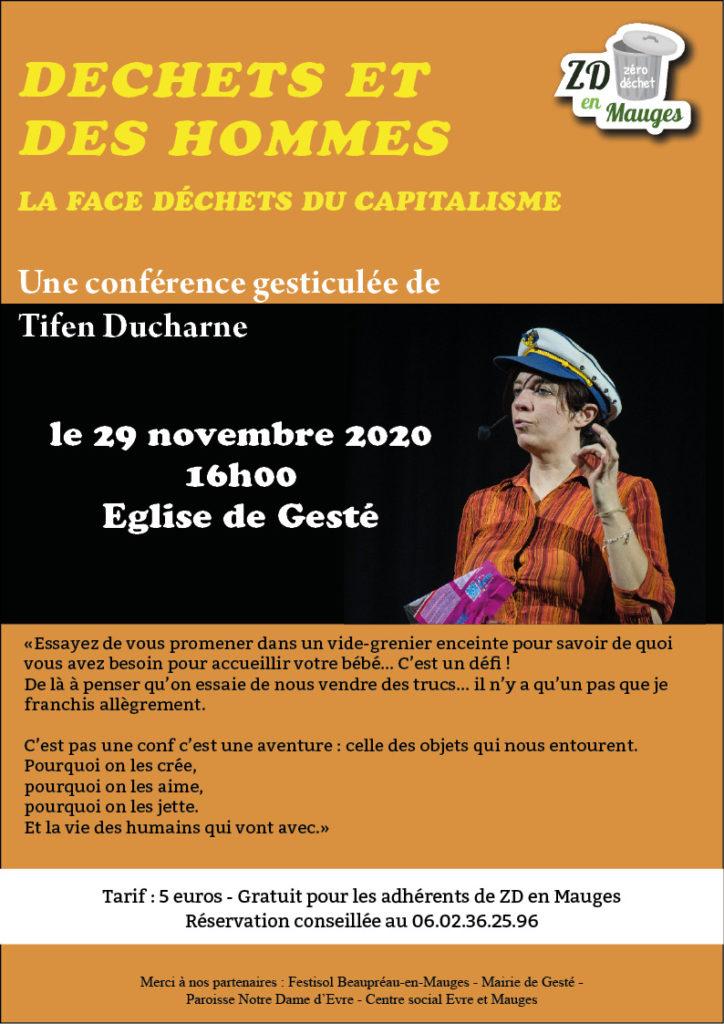 Affiche conférence gesticulée de Tifen Ducharne