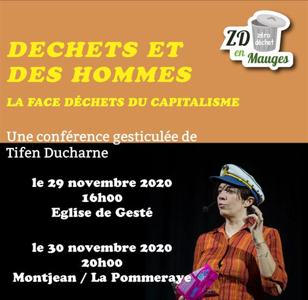 Affiche Conférence gesticulée Tifen Ducharne
