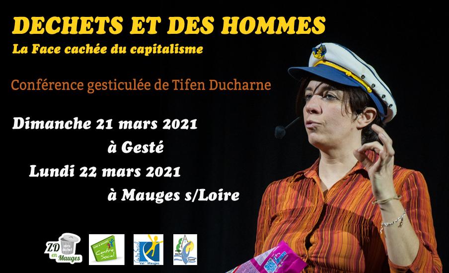 Affiche des conférences de Tifen Ducharne